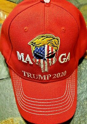 TRUMP Punisher- 2020 HAT- - MAGA! ---RED