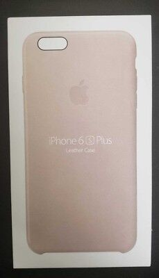 Genuine Apple Leather Case For iPhone 6 Plus iPhone 6s Plus - Rose Gray- NEW
