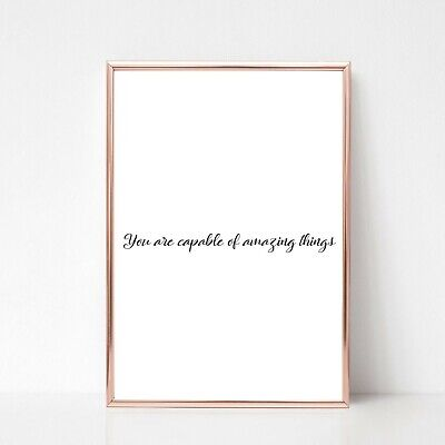 AMAZING THINGS print a4 picture UNFRAMED gloss typography quote wall art 22