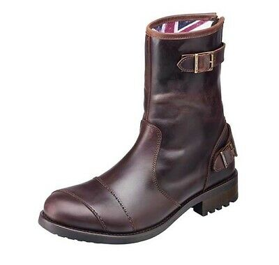 Triumph Dadlington Boots Brown Leather Motorcycle Boots New MBTS17317