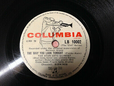 "1900年留聲機的蟲膠板 Columbia ""The Way You Look..."" Schellackplatte Für Grammophon 10002"