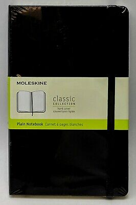 Moleskine Plain Notebook Classic Collection Hard Cover 240 Plain Pages