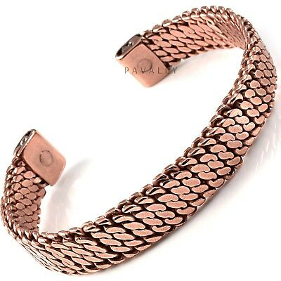 PURE COPPER MAGNETIC BANGLE bracelet carpal tunnel arthritis pain relief NEW