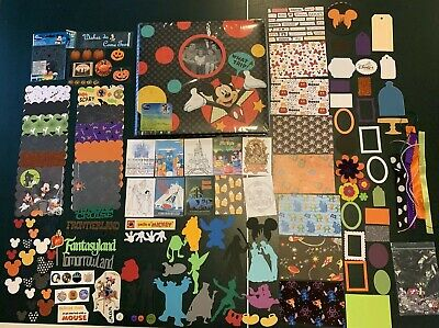 SUCCESS DISNEY 12x12 Scrapbook Bundle MICKEY MOUSE Not So Scary Halloween Party