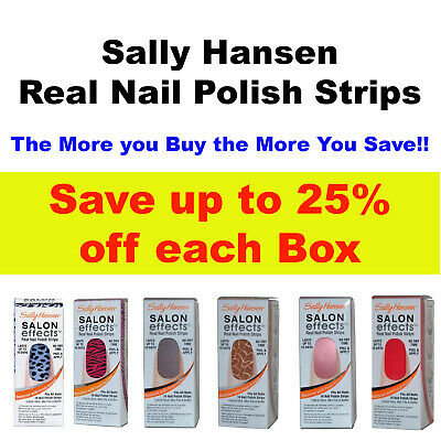 Sally Hansen Salon Effects 16 Real Nail Polish Strips Color File Buffer Save 25%