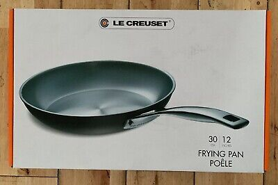 Le Creuset 30Cm Professional Hard Anodised Uncoated Frying Pan -Bnib
