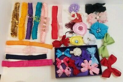 Baby Girl Headbands Bows Lot Hand Home Made