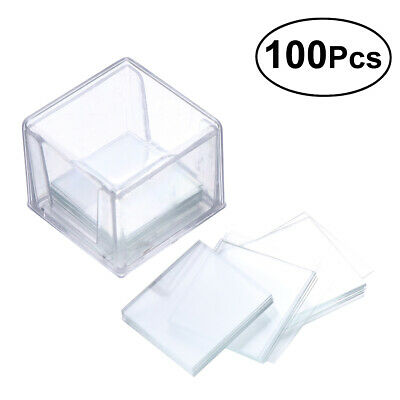 100x Safe Blank Microscope Square Cover Glass Microscope Slide Cover 18*18mm