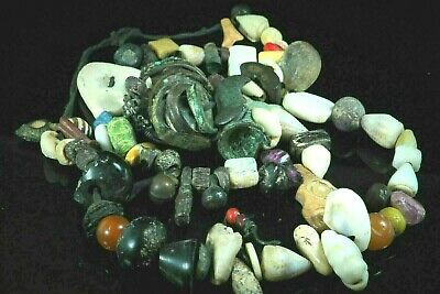 Original Ancient World Glass Agate Gems Shell Amethyst Beads Roman Bronze Rings