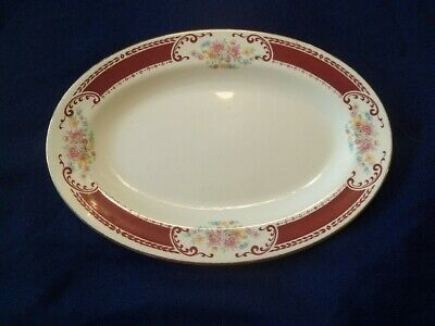 Homer Laughlin Brittany  Majestic-  Lady Alice  Small Platter / Gravy Underplate