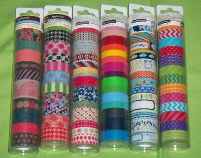 77 Recollections WASHI Crafting Tape 10 yard ~ LOT OF 6