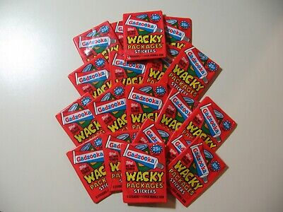 19x lot of 1985 Gadzooka Wacky Packages packs (5 stickers per pack) ALL NEW