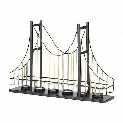 Golden Gate Candle  As Golden Gate Suspension Bridge  Holder By Gallery Of Light