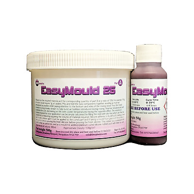 Easy Mould High Quality Silicone Moulding Rubber 550g kit Fast Curing