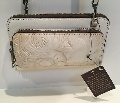 Patricia Nash Andria Tooled Leather Purse Convertible Crossbody Clutch Bag Rowan