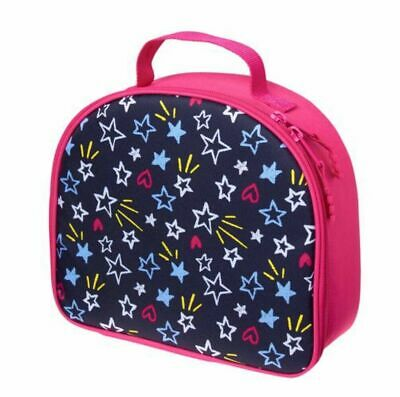 New Gymboree Girl's Star Lunchbox Tote Navy Blue Pink Insulated