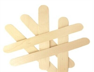 Craft Jumbo Icy Pole Sticks - Natural – 150mm x 19mm - 30 Pieces - New
