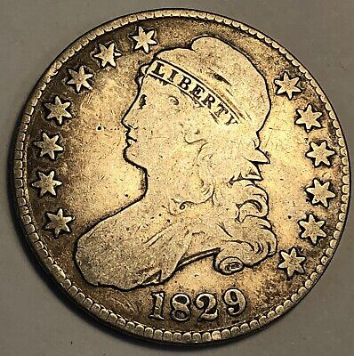 1829 Capped Bust Half Dollar.