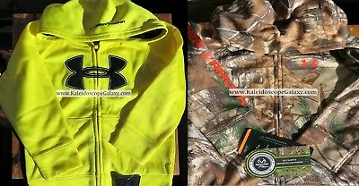Under Armour Boys 24 Months ~ Camouflage Realtree Hoodie Yellow Hoodie New $91