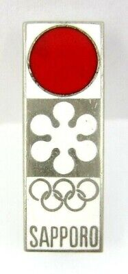 1972 Sapporo Japan Winter Olympic Games Official Logo Pin Badge Rare
