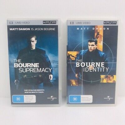 bourne identity / bourne supremacy psp movie bundle Umd Video
