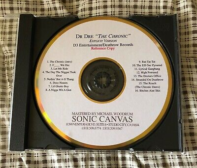 Dr dre the chronic explicit promo reference master cd-r death row records rare