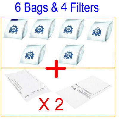 6 Dust Bags & 2 Filters For Miele GN Hyclean 3D Type Cat & Dog Vacuum Cleaner