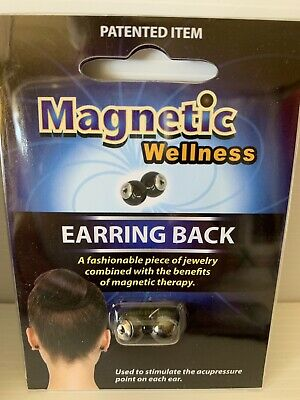 Magnetic Wellness Earring Back X 1 - Acupressure Point Therapy On Ear - Magnets