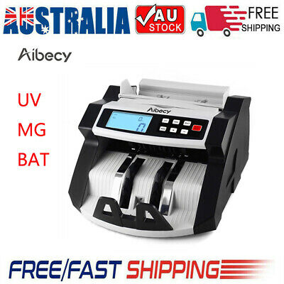 Aibecy Currency Cash Money Bill Counter Banknote Counting Machine UV MG BAT L6Y9
