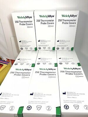 15 Boxes Welch Allyn 05031-750 Suretemp 3,750 Probe Covers Half Case