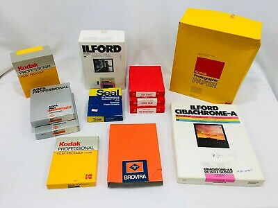Vintage Photo Paper Lot Kodak Ilford AGFA Seal Various Sizes Opened 400+ Sheets