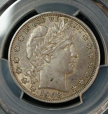 USA 1908-S Barber Half Dollar PCGS AU53 - Rare almost Uncirculated Silver Coin