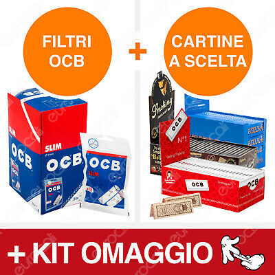 4080 Filtri OCB Slim + Cartine a Scelta Rizla Enjoy Freedom Smoking Bravo Rex