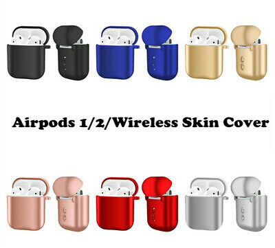 Silicone Protective Skin Case Cover For Apple AirPods 1st 2nd Wireless Earphone