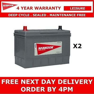 2x 2x Hankook XL31S Leisure Batteries 12V 130AH