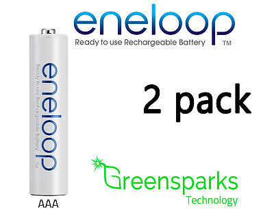 2x Panasonic Eneloop rechargeable LSD NiMH AAA batteries *Made in Japan*