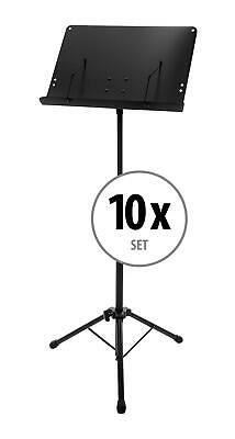 10x Foldable Adjustable Orchestral Music Stand Sheet Holder Heavy Duty Tripod