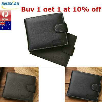 Genuine Leather Mens Wallet Purse Money Bag Coin Credit Card Clip Slim ID Holder