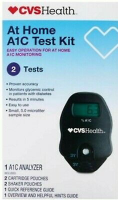 CVS PHARMACY A1C Self Check Home A1C System 2 Test Kit GLYCEMIC April 2020 FRESH