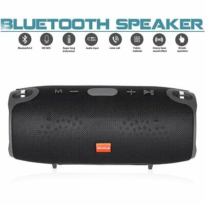 40W Tragbarer Wireless Bluetooth Lautsprecher Stereo Subwoofer TF AUX Musicbox