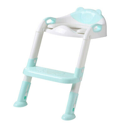 Potty Toilet Training Chair with Ladder & Handles for Baby Boys Girls Blue