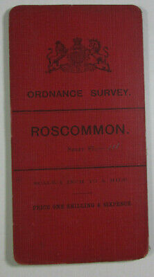 1904 Old OS Ordnance Survey Ireland One-Inch Second Edition Map 87 Roscommon