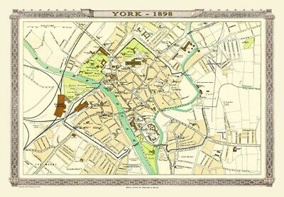 MAP OF CENTRAL LONDON 1898 ROYAL ATLAS