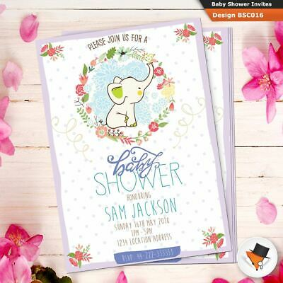 Personalised Baby Shower Invitations Various Designs Invites Free Envelopes