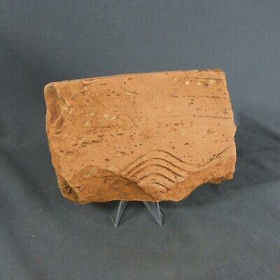 Ancient Gallo-Roman Terracota Fragment with Waves decor 1st / 2nd century AD
