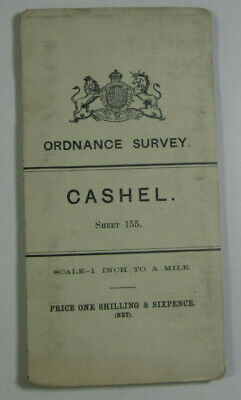 1904 Old OS Ordnance Survey Ireland One-Inch Second Edition Map 155 Cashel