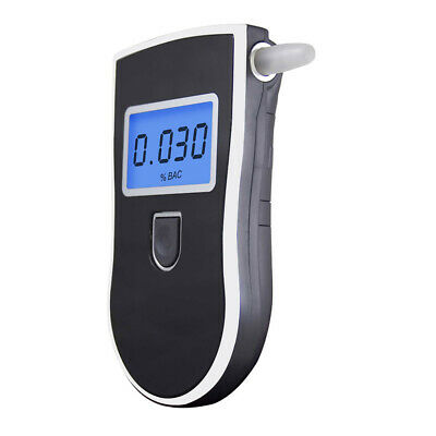 Portable Digital Alcohol Breathalyser Breath Tester Breathtester Blue LCD