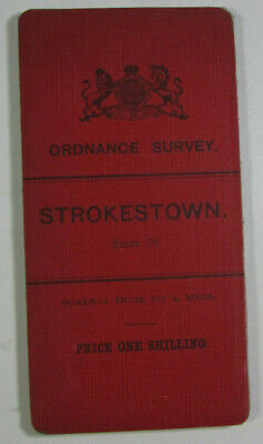 1904 Old OS Ordnance Survey Ireland One-Inch Second Edition Map 78 Strokestown