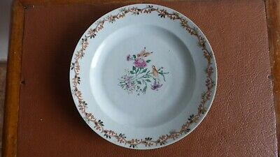 Antique chinese export porcelain plate. XVIIIth C. Ancienne  Assiette Chine