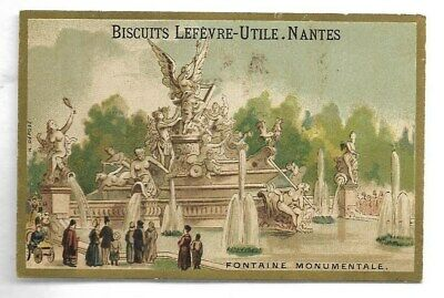 Fontaine monumentale -- Chromo Biscuits Lefèvre-Utile - Trade card